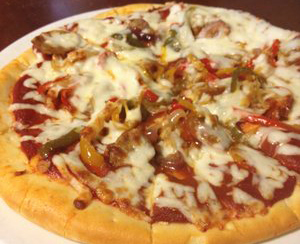 sausage supreme pizza